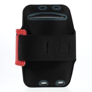 Soft pouzdro na mobil vhodné pro telefony do 160 x 85 mm - červené - 2