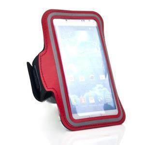 Červený sportovní obal na mobil do velikosti 145 x 75 mm - 2