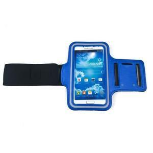 Modrý sportovní obal na mobil do velikosti 145 x 75 mm - 2