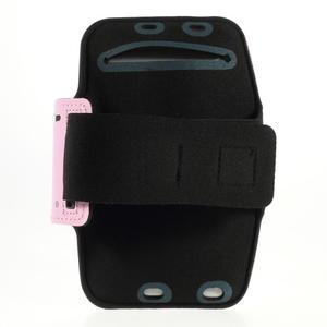 Soft pouzdro na mobil vhodné pro telefony do 160 x 85 mm - růžové - 2