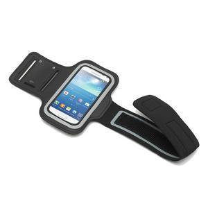 Černé pouzdro na ruku do velikosti mobilu 125 x 61 mm - 2