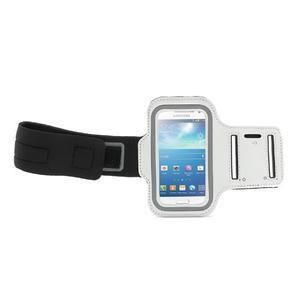 Bílé pouzdro na ruku do velikosti mobilu 125 x 61 mm - 2