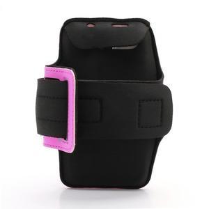 Sportovní pouzdro na ruku až do velikosti mobilu 140 x 70 mm - rose - 2