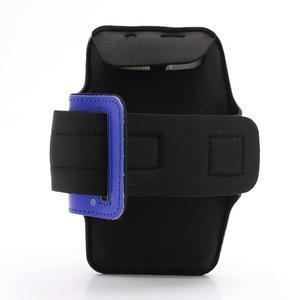 Sportovní pouzdro na ruku až do velikosti mobilu 140 x 70 mm - modré - 2