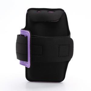 Sportovní pouzdro na ruku až do velikosti mobilu 140 x 70 mm - fialové - 2