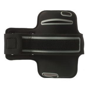 Černé Sports Gym pouzdo na ruku pro velikost mobilu až 150 x 70 mm - 2