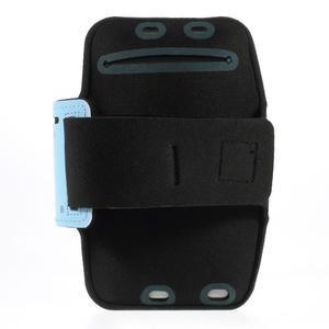 Soft pouzdro na mobil vhodné pro telefony do 160 x 85 mm - světle modré - 2