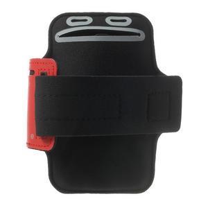 Fitsport pouzdro na ruku pro mobil do velikosti až 145 x 73 mm - červené - 2