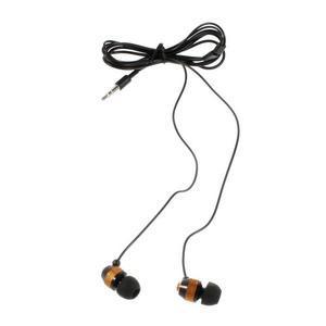 Špuntová sluchátka do mobilu, bronzová / černá - 2