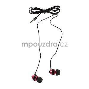 Špuntová sluchátka do mobilu, červená / černá - 2