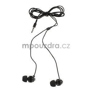 Špuntová sluchátka do mobilu, černá - 2