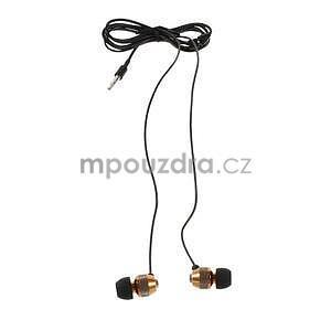 Špuntová sluchátka do mobilu, bronzová - 2