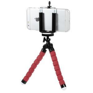 Trojnožkový stativ pro mobilní telefony - červený - 2