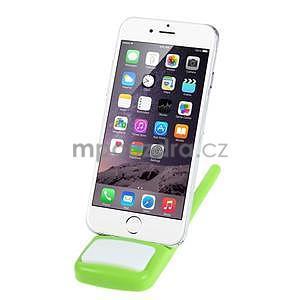 Tvarovatelný stojánek na mobil, zelený - 2