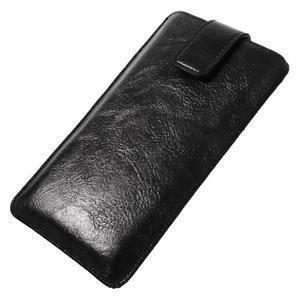 Univerzální flipové pouzdro pro mobily do 150 x 85 mm - černé - 2