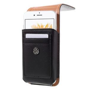 Pouzdro na opasek pro telefony do rozměru 160 x 84 x 18 mm - černé - 2