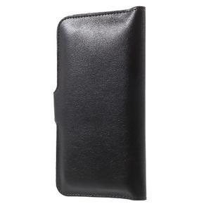 Peněženkové univerzální pouzdro na mobil do 140 x 68 x 10 mm - černé - 2