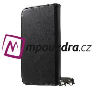 Luxusní univerzální pouzdro pro telefony do 140 x 70 x 12 mm - černé - 2