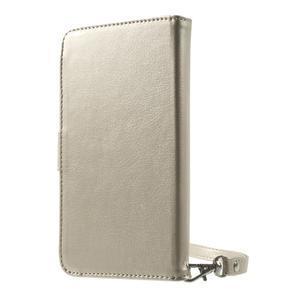Luxusní univerzální pouzdro pro telefony do 140 x 70 x 12 mm - zlaté - 2