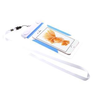Nox7 vodotěsný obal na mobil do rozměru 16.5 x 9.5 cm - modrý - 2