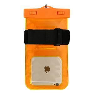 Base IPX8 vodotěsný obal na mobil do 158 x 78 mm - oranžový - 2