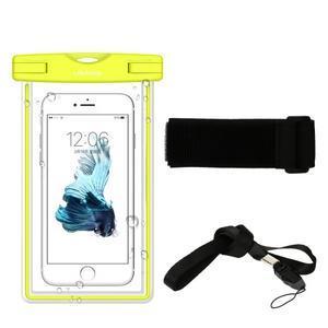 Fluorescent IPX8 vodotěsný obal na mobil do 158 x 78 mm - černý - 2