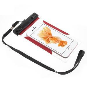 Nox7 vodotěsný obal na mobil do rozměru 16.5 x 9.5 cm - červený - 2