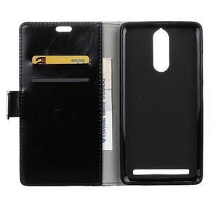 Horse PU kožené pouzdro na mobil Lenovo K5 Note - černé - 3
