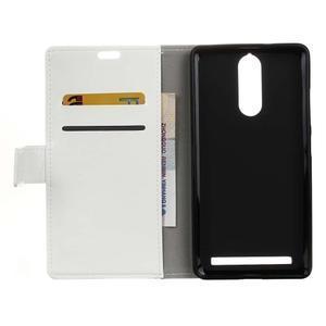 Horse PU kožené pouzdro na mobil Lenovo K5 Note - bílé - 3