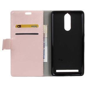 Horse PU kožené pouzdro na mobil Lenovo K5 Note - růžové - 3