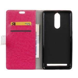 Colory knížkové pouzdro na Lenovo K5 Note - rose - 3