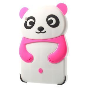 3D Silikonové pouzdro na iPad mini 2 - růžová panda - 3