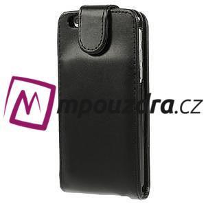 PU kožené flipové pouzdro na iPhone 6, 4.7 - černé - 3