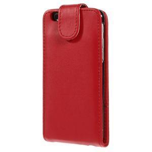 PU kožené flipové pouzdro na iPhone 6, 4.7 - červené - 3