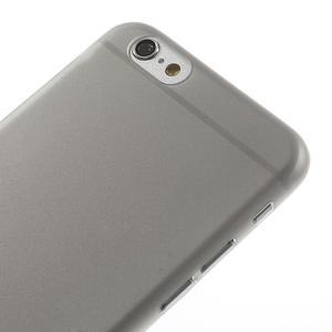 Ultra slim 0.3 mm plastové pouzdro na iPhone 6, 4.7  - šedé - 3