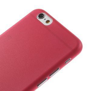 Ultra slim 0.3 mm plastové pouzdro na iPhone 6, 4.7  - červené - 3