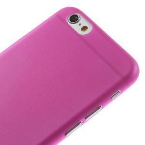 Ultra slim 0.3 mm plastové pouzdro na iPhone 6, 4.7  - růžové - 3
