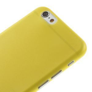 Ultra slim 0.3 mm plastové pouzdro na iPhone 6, 4.7  - žluté - 3