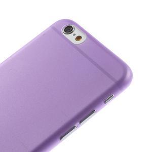 Ultra slim 0.3 mm plastové pouzdro na iPhone 6, 4.7  - fialové - 3