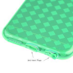 Gelové kostkované pouzdro na iPhone 6, 4.7 - zelené - 3
