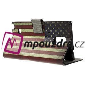 Peněženkové pouzdro na Samsung Galaxy Note 4- USA vlajka - 3
