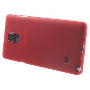 Gelové pouzdro na Samsung Galaxy Note 4- červené - 3
