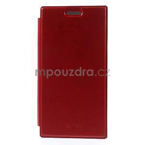 Flipové pouzdro na Nokia Lumia 730 - červené - 3