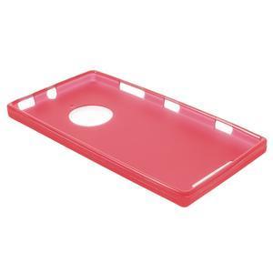 Gelové matné pouzdro na Nokia Lumia 830 - červené - 3