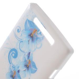 Gelové pouzdro na Nokia Lumia 830 - modrá lilie - 3