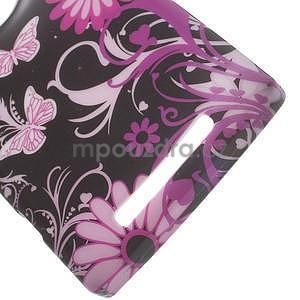 Gelové pouzdro na Nokia Lumia 830 - motýl a květ - 3