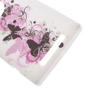 Gelové pouzdro na Nokia Lumia 830 - květ motýla - 3