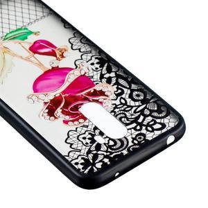 Lace gelový obal s plastovými zády pro Xiaomi Pocophone F1 - růže - 3