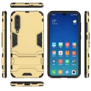Kickstand odolný hybridní obal na Xiaomi Mi 9 SE - zlatý - 3