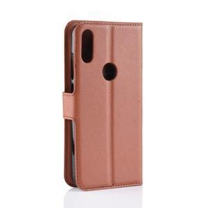 Stand PU kožené peněženkové pouzdro na Xiaomi Redmi Note 7 - hnědé - 3